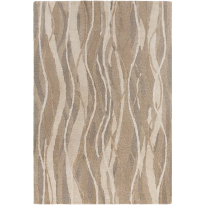 Aurora Hand-Tufted Neutral Area Rug Rug Size: Rectangle 5 x 8
