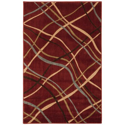 Cheyne Red Area Rug Rug Size: 36 x 56