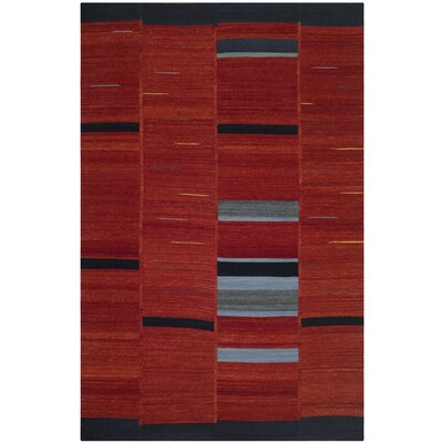 Khang Red Area Rug Rug Size: 5 x 8