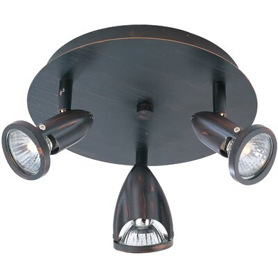 Dellwood 3-Light Flush Mount Finish: Bronze