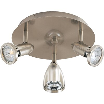 Dellwood 3-Light Flush Mount Finish: Satin Nickel