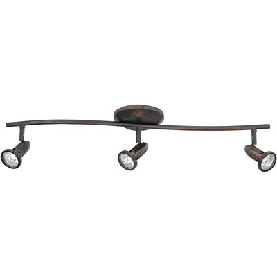Bruhn 3-Light Metal Shade Flush Mount Finish: Bronze