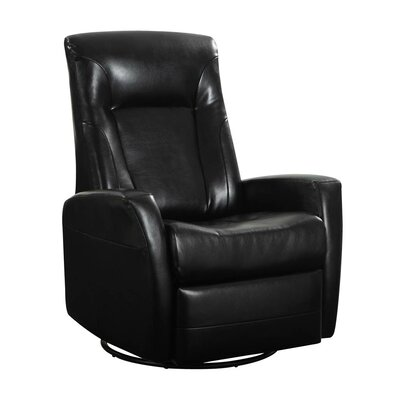 Lyda Manual Rocker Recliner Upholstery: Black