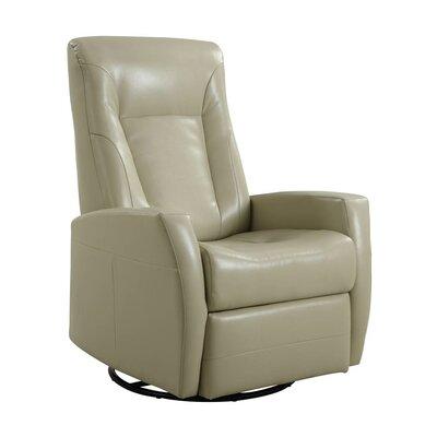 Lyda Swivel Glider Recliner Upholstery: Stone