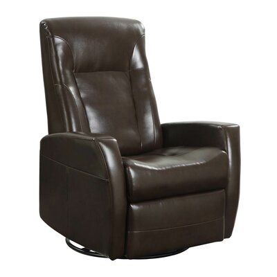 Lyda Swivel Glider Recliner Upholstery: Chocolate