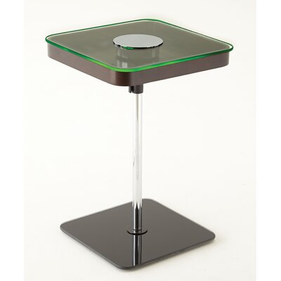 Jermane Square End Table with LED Light