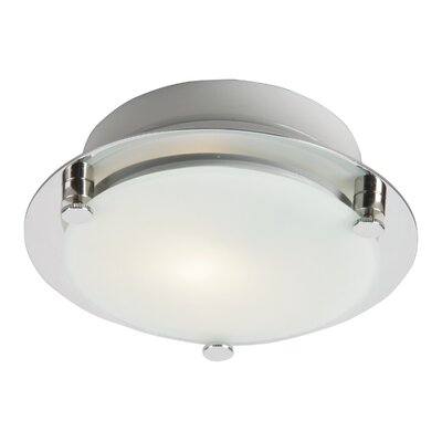 Buzzell LED 1-Light Silver Flush Mount