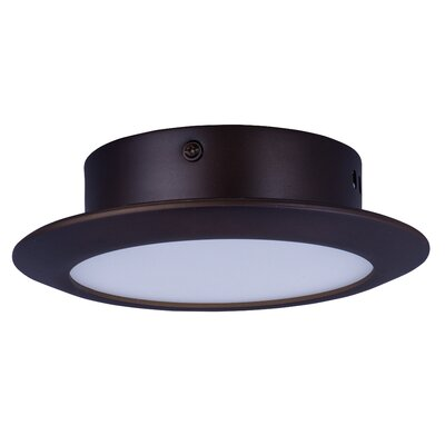 Callaghan 1-Light Semi Flush Mount Base Finish: Bronze