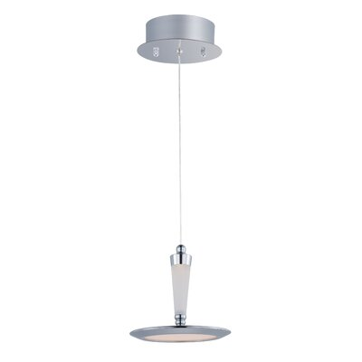 Brosnan 1-Light 12W Metal Pendant Base Finish: Silver
