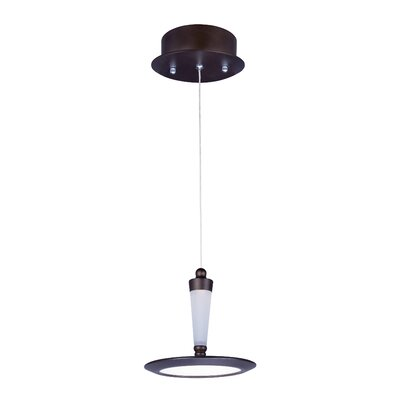 Brosnan 1-Light 12W Metal Pendant Base Finish: Bronze