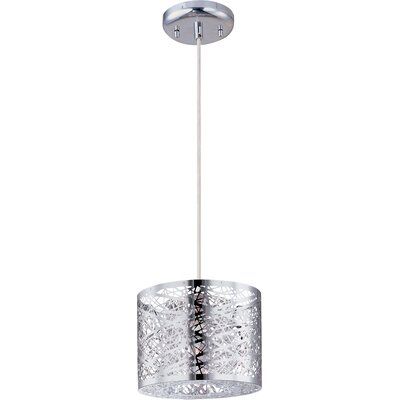 Buzard 1-Light Pendant with Bulb Color: White