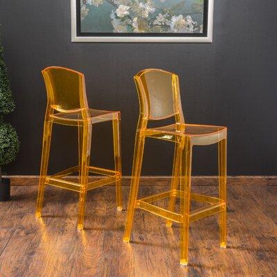 Breezewood 28.75 Bar Stool Upholstery: Golden Yellow