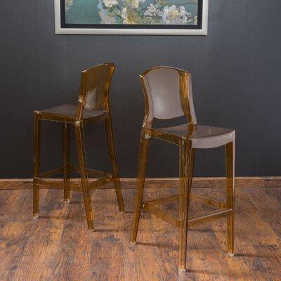 Breezewood 28.75 Bar Stool Upholstery: Smokey Grey