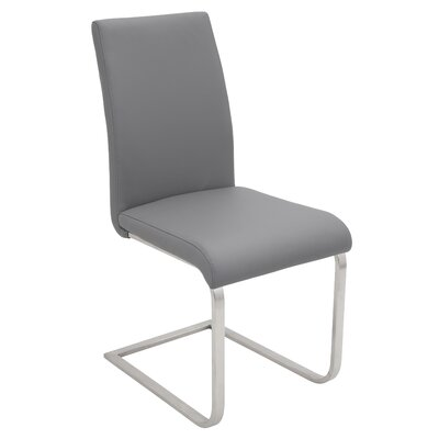 Crystal River Parsons Chair (Set of 2) Upholstery: Grey
