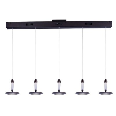 Buser Modern 5-Light Pendant Base Finish: Bronze