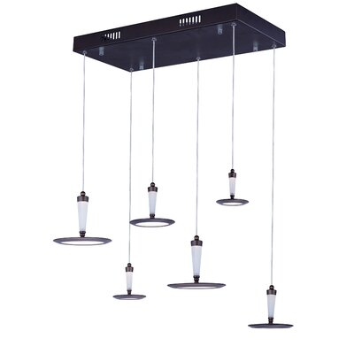 Shalonda 6-Light LED Pendant Base Finish: Bronze