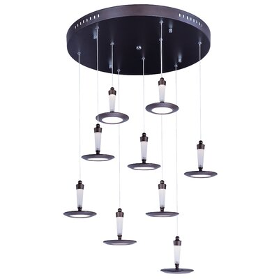 Busby Modern 9-Light Pendant Finish: Brown