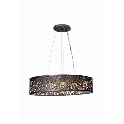 Delmonte 9-Light Pendant with Bulb Base Finish: Bronze