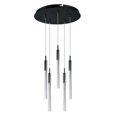 Buie 5-Light Pendant Finish: White