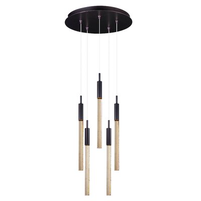 East Libertyr 5-Light Pendant Finish: Bronze