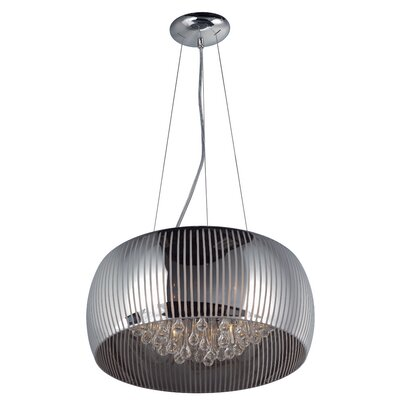 Bruck 6-Light Glass Shade Pendant