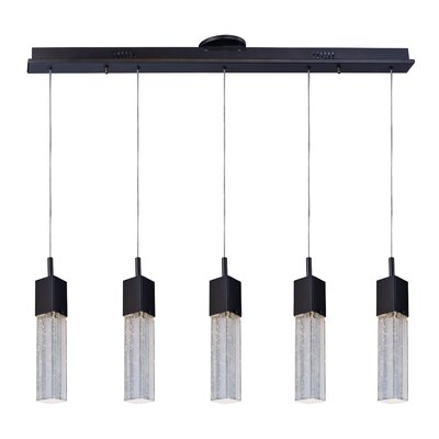 Burrier 5-Light Glass Shaded Pendant
