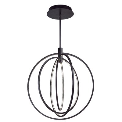 Concentric 4-Light LED Globe Pendant Finish: Bronze