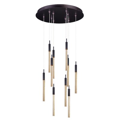 Delancey 10-Light Metal Pendant Finish: Bronze