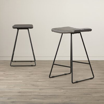Lakeside Green 26.8 Bar Stool Upholstery: Black