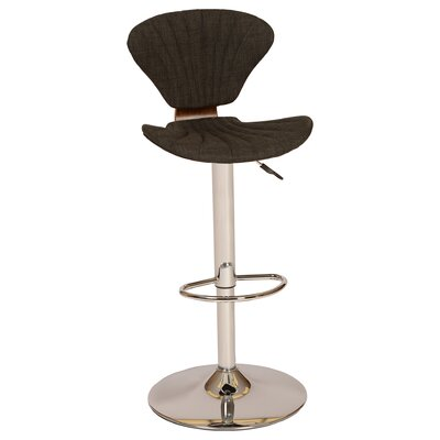 Tortola Adjustable Height Swivel Bar Stool Upholstery: Charcoal