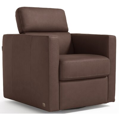 Annabesook Diletta Swivel Club Chair Color: Brown