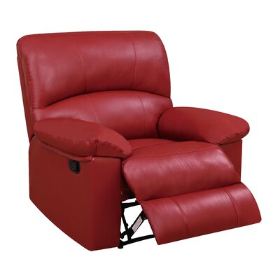 Justin Recliner Upholstery: Red