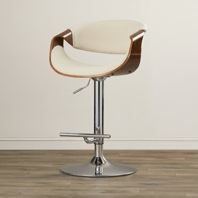 Lake Mary 24.5 Swivel Bar Stool Upholstery: Cream