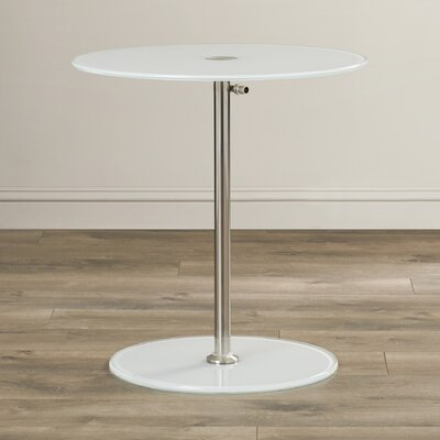 Wilbert Round Glass Side Table Finish: Pure White