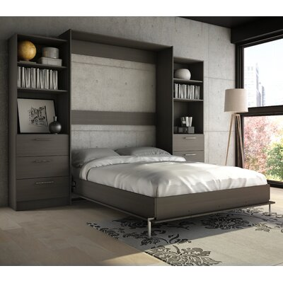 Lower Weston Murphy Wall Bed Size: Full, Finish: Charcoal Grey
