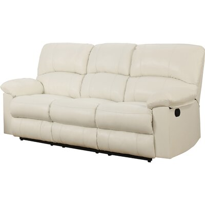 Justin Reclining Sofa Upholstery: white