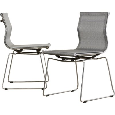 Carroll Side Chair Upholstery: Silver