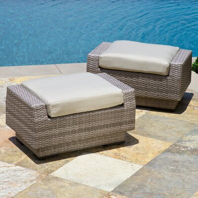 Alfonso Ottoman with Cushion Fabric: Slate Grey