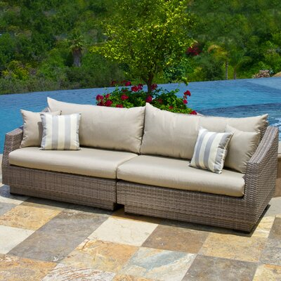 Alfonso Sofa with Cushions Fabric: Slate Grey