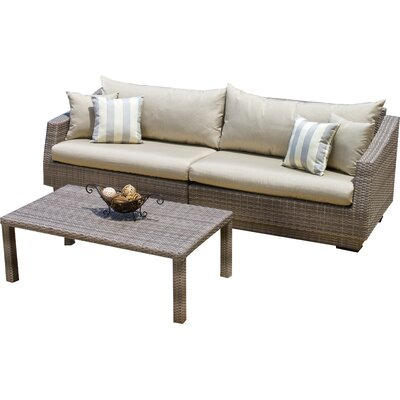 Alfonso 2 Piece Deep Seating Group with Cushion Fabric: Slate Grey