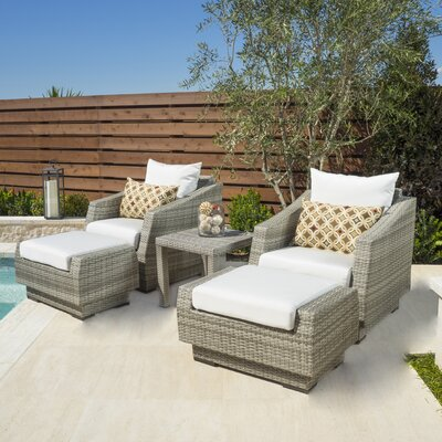 Alfonso 5 Piece Seating Group with Cushions Fabric: Moroccan Cream