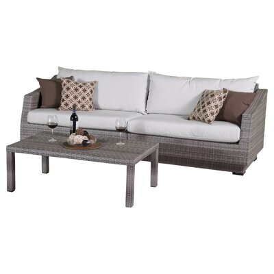 Alfonso 2 Piece Deep Seating Group with Cushion Fabric: Moroccan Cream