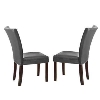 Blackburn Parsons Chair (Set of 2) Chair Upholstery: Gray