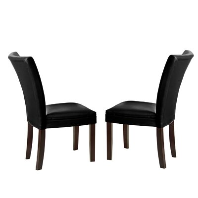 Blackburn Parsons Chair (Set of 2) Chair Upholstery: Black