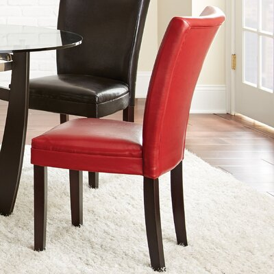 Blackburn Parsons Chair (Set of 2) Chair Upholstery: Red