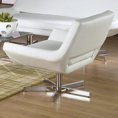 Matt Swivel Armchair Upholstery: White, Seat: Wide