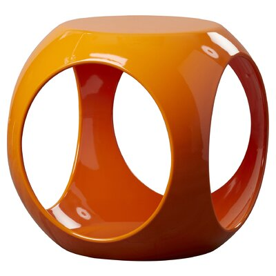 Kai End Table Color: Orange