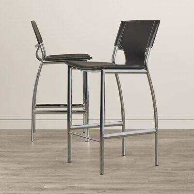 Loren 25.2 Bar Stool (Set of 2) Upholstery: Black