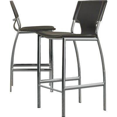 Loren 25.2 Bar Stool (Set of 2) Upholstery: Black