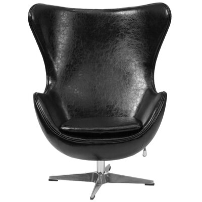 Tilt-Lock Mechanism Lounge Chair Upholstery: Black